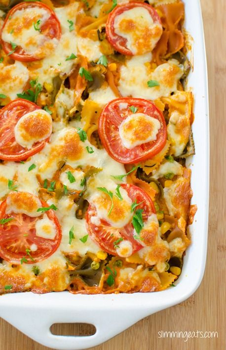 Creamy Vegetable Pasta Bake | Slimming Eats - Slimming World Recipes