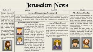 Lesson 31 a Jesus Christ's Betrayal, Arrest, and Trial  Jerusalem News Primary 7 Lesson helps