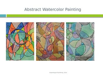 This is a great visual step-by-step presentation to help students create an abstract watercolor painting to compliment their season poem  compatible with the Poetry and Art Lesson on Poetic Devices. Download both for a creative and educational art and poetry lesson perfect for teaching the language arts and the visual arts standards in one great activity.