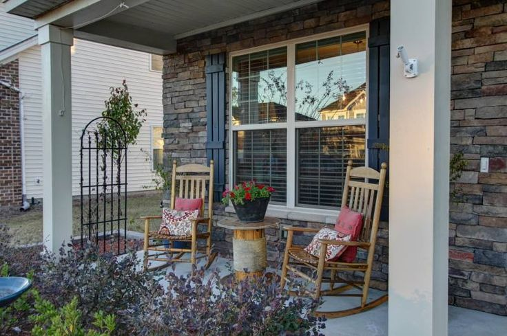 Welcoming front porch. First impressions are critical for people, whether they are buying a car, new furniture, or a house