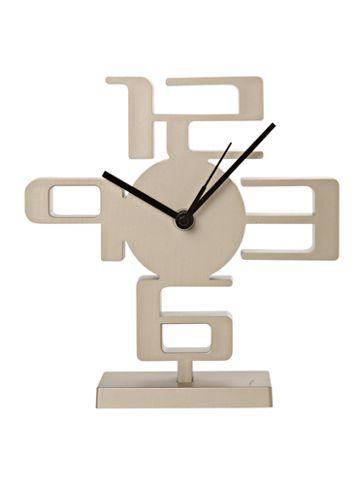 Umbra Small time desk clock nickel - House of Fraser