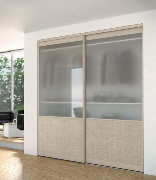 Porte de placard evolution collection aluminium sogal tanguy mat riaux po - Decoration porte de placard ...