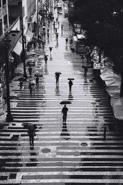 Rain in black and white, by ppucci, São Paulo, Brazil