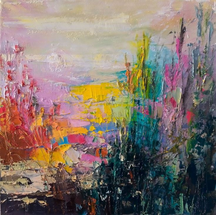 ARTFINDER: 'Beach Flowers' by Ewa Czarniecka - Oil on canvas multi layered technique uses both painting knife and brush to build atmospheric scenes of dramatic depth and beauty. Every painting is signe...