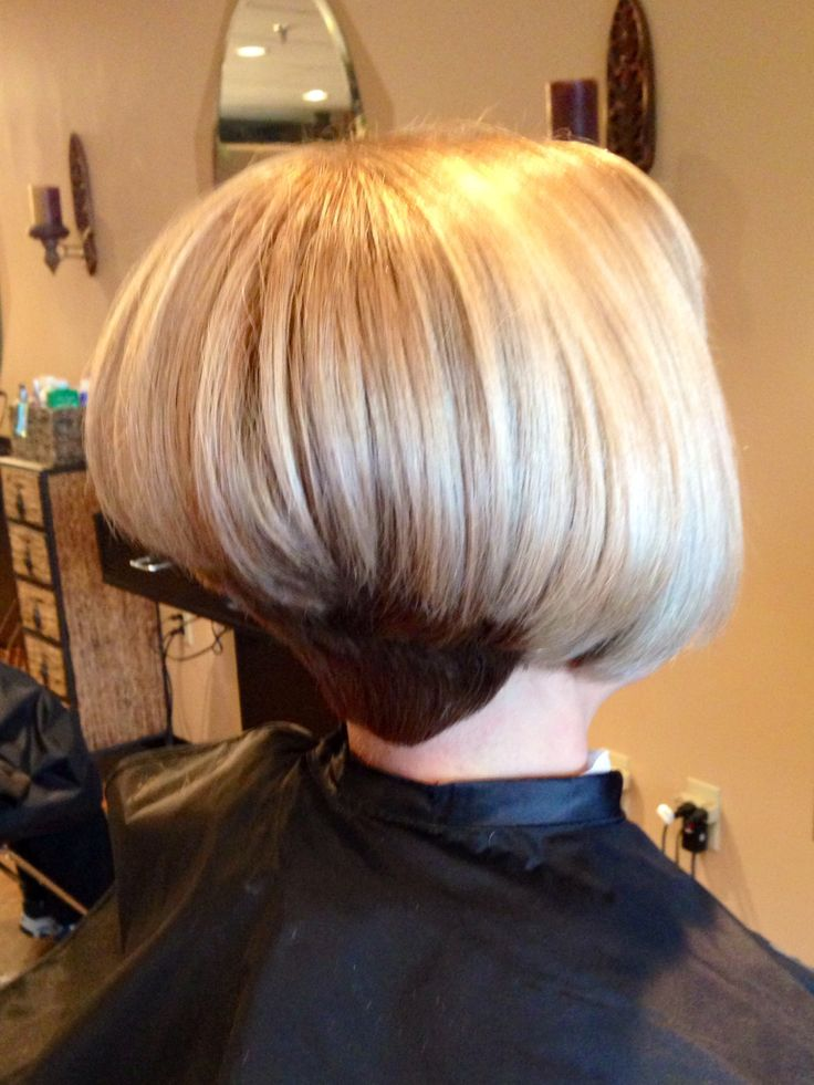 Stacked inverted bob  01Bobhairstyle  Hair styles Short hair with bangs Short hair styles