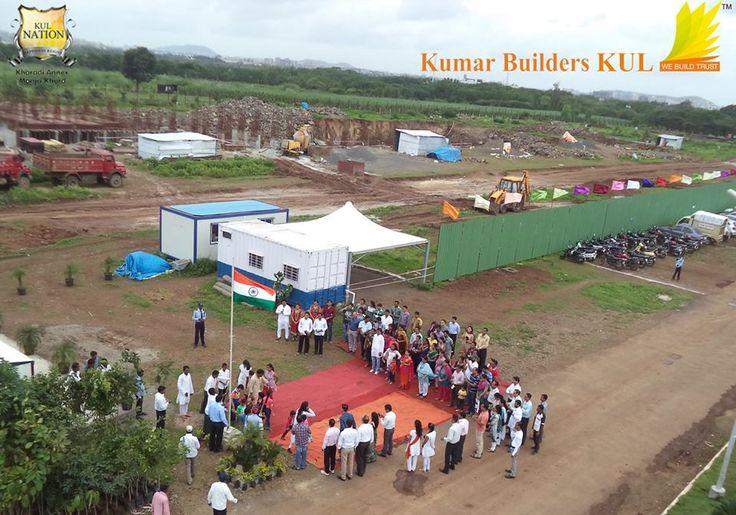 Flag Hoisting at KUL Nation, Khardi-Annex, Pune, India