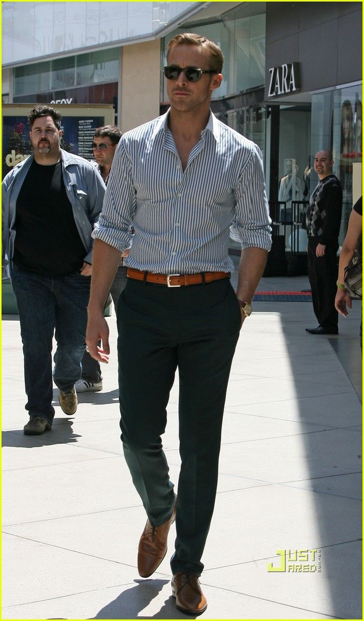 Ryan gosling. Ps. MEN MUST LEARN FROM HIM! he's looks great  his outfit is so simple. key=tailored