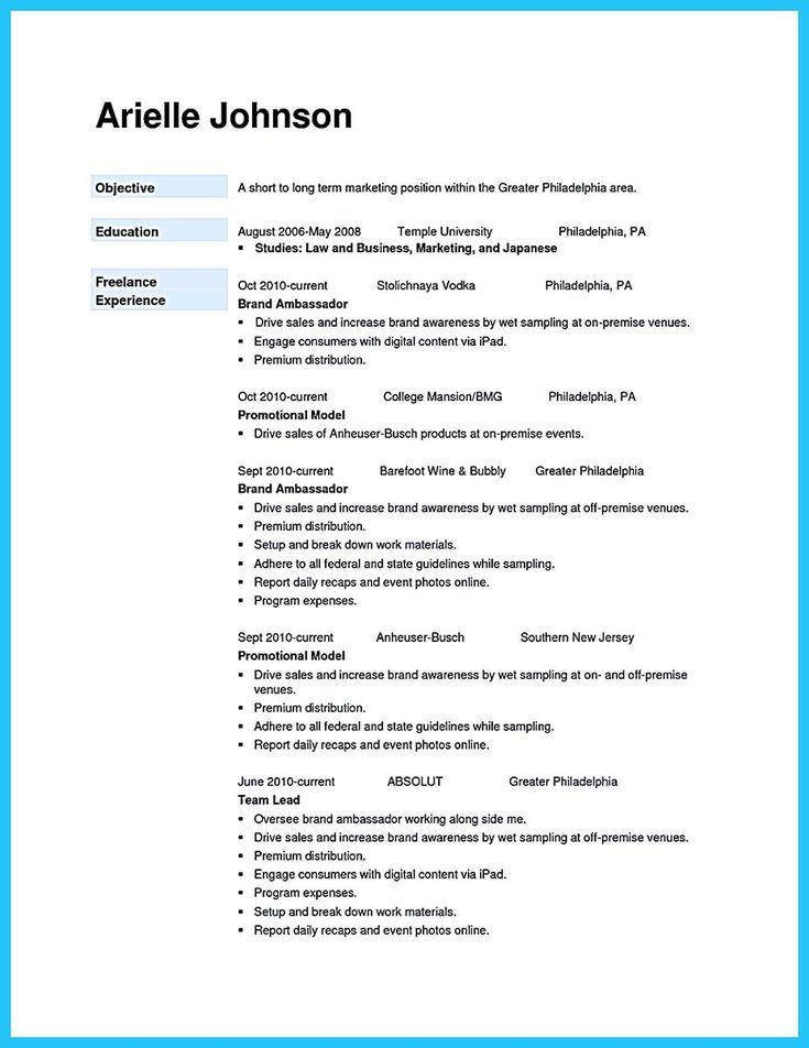 Brand Ambassador Resume Sample Brand Ambassador Resume Sample - brand representative sample resume