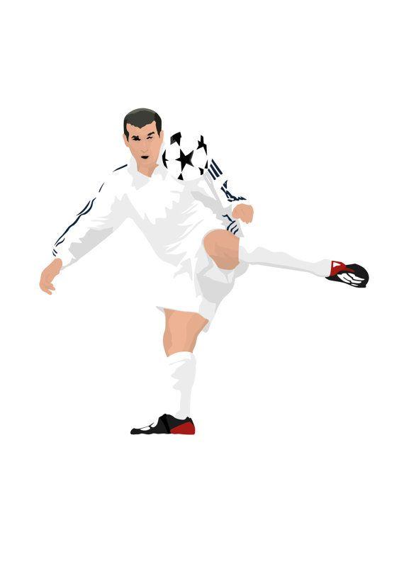 Zinedine Zidane A3 cartel: 297mmx420mm Zizou Francia