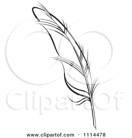 feather quill pen tattoo | Clipart Black And White Feather Quill - Royalty Free Vector ...