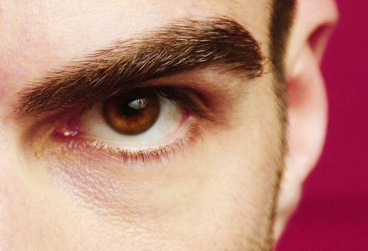Closeup of Zachary Quinto's sexy eyebrow.