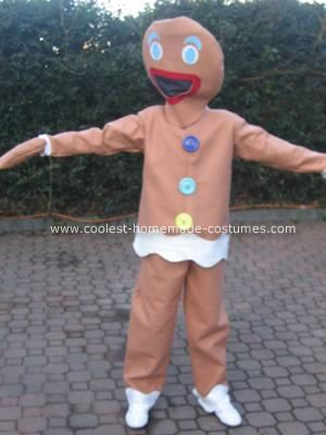 Homemade Gingerbread Man Costume: This Gingerbread Man Costume was for world book day for my 12 year old son. He wanted something different and found a picture of a small child wearing