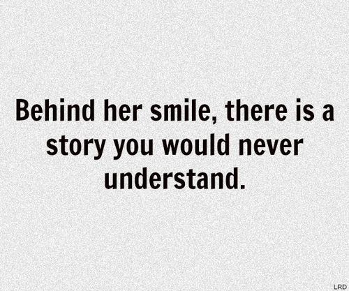 Behind her smile, there is a story you would never understand.  Love this life..filled with gratitude.【ツ】
