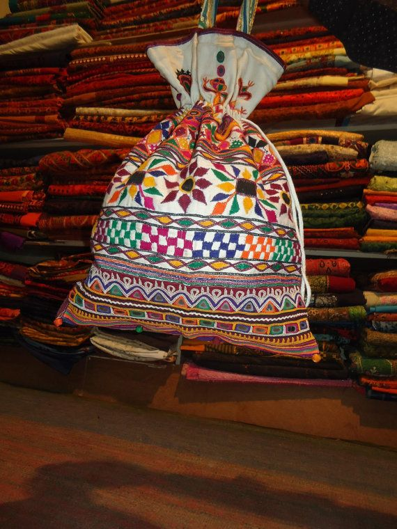 Beautiful embroidery! banjara bags/gypsy bags/tribal bagsby Dinesh kumar Rathi of jaisalmerhandloom at etsy