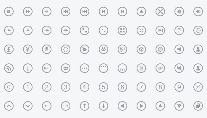 Metrize Icon Set Free PSD