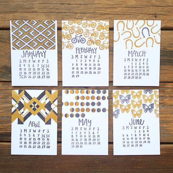 1canoe2 // 2016 Letterpress Calendar Refill // Columbia, MO, United States