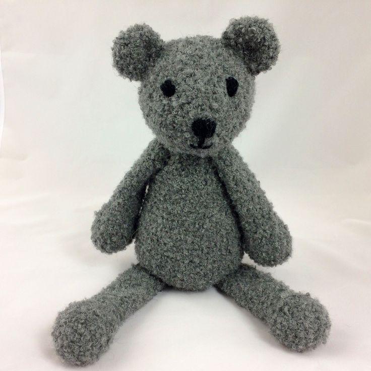 Teddy Bear - soft and cuddly - crocheted - natural alpaca fiber