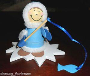 7-Eskimo-Fishing-Ice-Snow-Flower-Pot-Winter-Decoration-Childrens-Craft-Kits-Lot