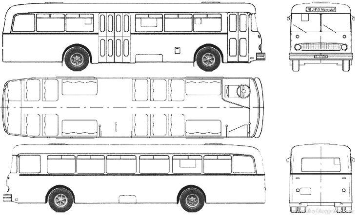 bussing e2u - 1964 Bussing E2U 64 BVG Berlin Bus blueprint