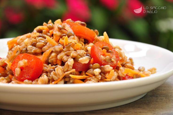 Insalata di farro e lenticchie