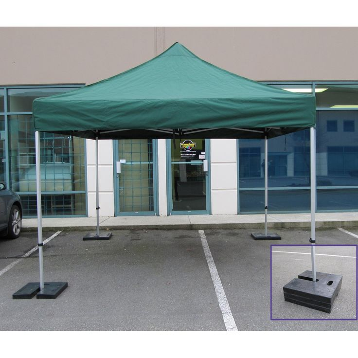 Impact Canopy Pop Up Canopy Tent Rubber Weight Plate - Set of 4 - RW4