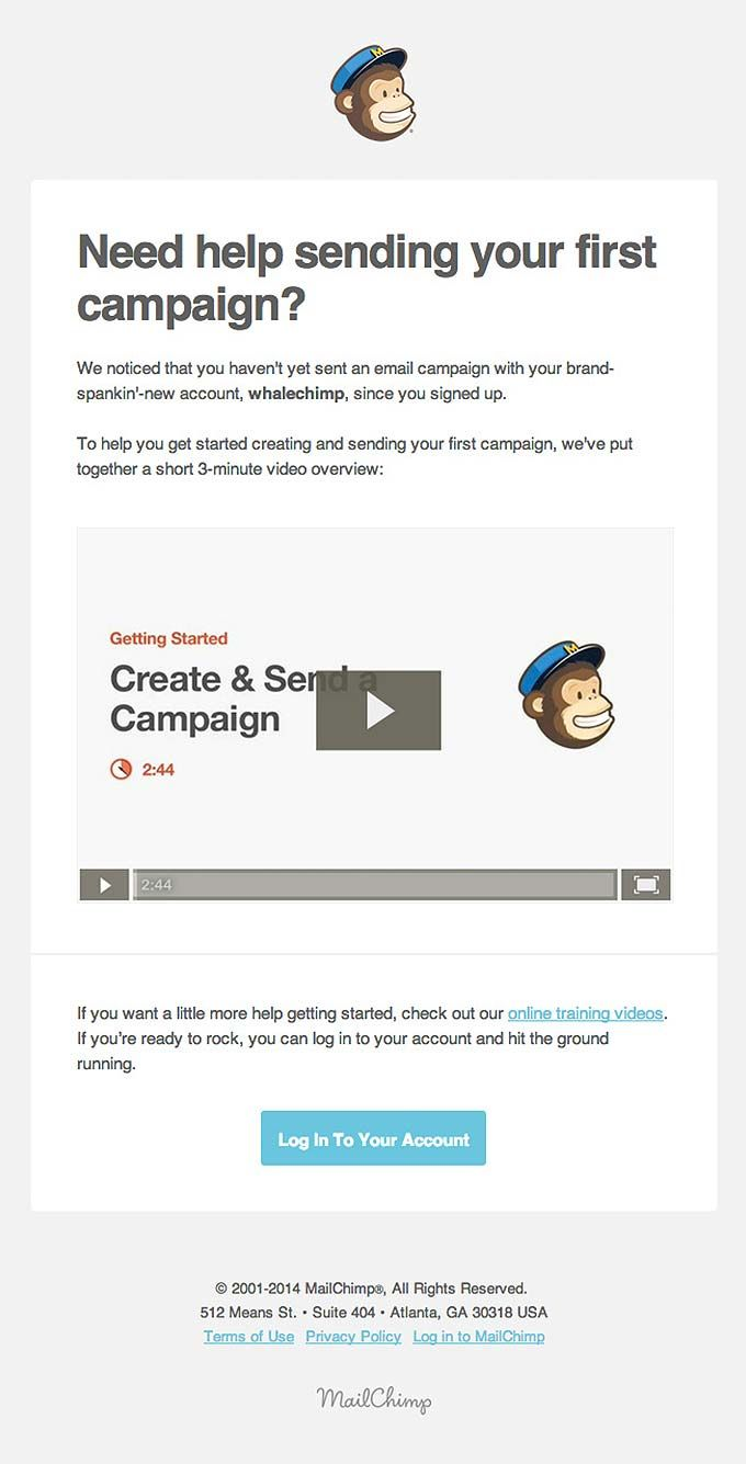 Retention Email Design from MailChimp