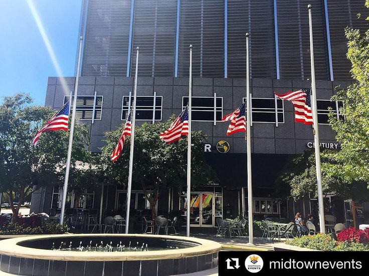 #Repost @midtowneventsOur flags solemnly fly at half-staff today. As a property that embraces the celebration and camaraderie that one experiences at outdoor events our hearts are heavy with the news of that joy being taken from many innocent people. Our thoughts and prayers are with #LasVegas all those affected their families and our brave first responders.