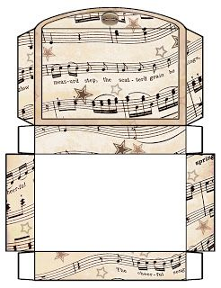 ArtbyJean - Vintage Sheet Music: Printable Gift Boxes - Ready to Print all with a vintage sheet music theme