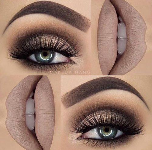 mauve makeup look for holidays.