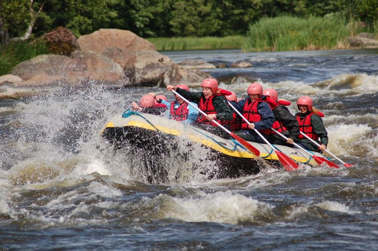 In Finland there are several free flowing rivers offering great changes for river rafting. For adventure seekers we have even created a route from southeastern Finland to northeastern Finland with three river rafting experiences offering ever growing challenges. Would you like to experience the rollercoaster of nature?