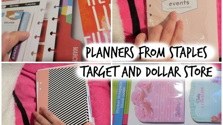 Planners from STAPLES, Planners from Target, Mini planners from Dollar s...