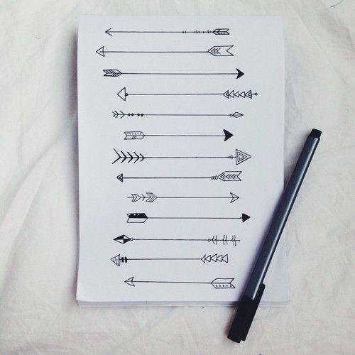 Imagen de arrow, drawing, and art