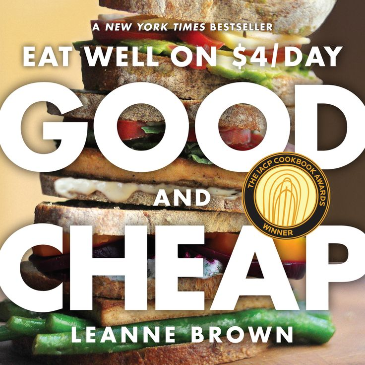 A perfect and irresistible idea: A cookbook filled with delicious, healthful recipes created for everyone on a tight budget. While studying food policy as a master's candidate at NYU, Leanne Brown asked a simple yet critical question: How well can a person eat on the $4 a day given by SNAP, the U.S. government's Supplemental Nutrition Assistance Program informally known as food stamps? The answer is surprisingly well: Broiled Tilapia with Lime, Spicy Pulled Pork, Green Chile and Cheddar…