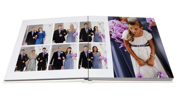 how to organize wedding photos - professional custom photo album