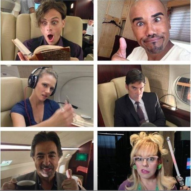 """Criminal minds -- Hotch is like, """"what's going on?!?"""" And the rest are well... just themselves. Enough said."""