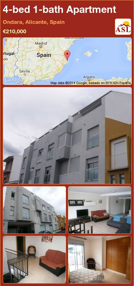 4-bed 1-bath Apartment in Ondara, Alicante, Spain ►€210,000 #PropertyForSaleInSpain
