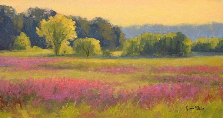 Фиолетовый Вербейник Осень по Ками Mendlik масла ~ 8 х 15