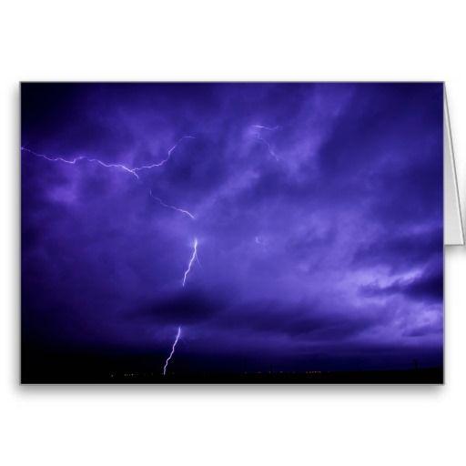 purple sky lightning greeting card  purple sky lightning