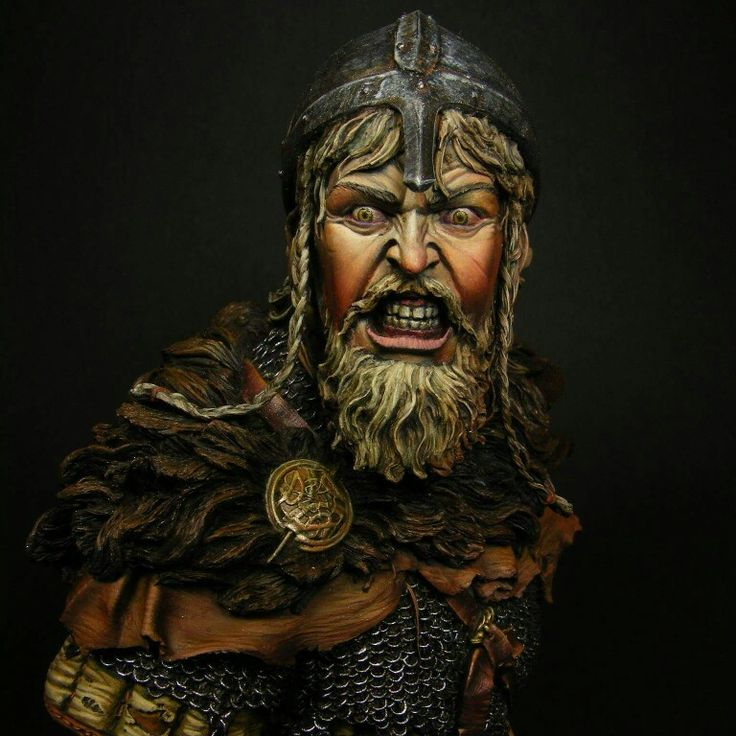 Viking fury.  Busto de Andrea Miniatures