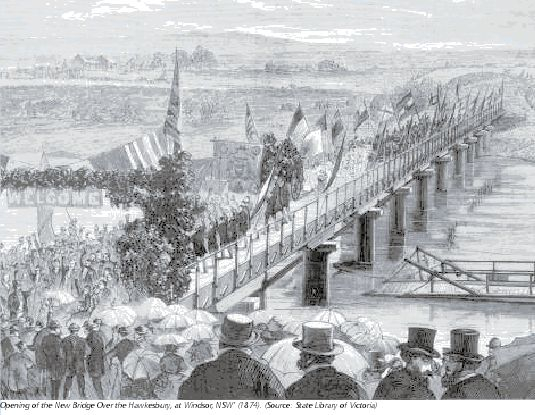 Opening of the New Bridge Over the Hawkesbury at Windsor NSW 1874
