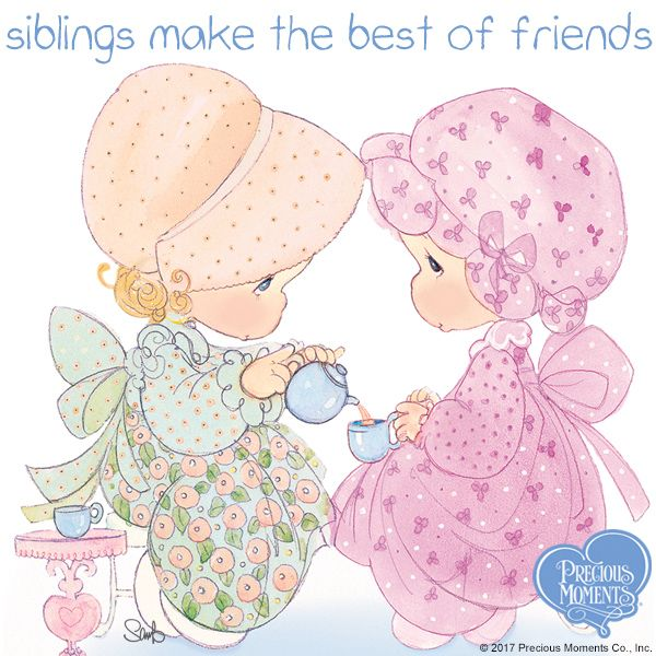 Take time for a precious moment today and every day and let your sibling know how much their love and friendship means to you. Thank you God, for brothers and sisters with hearts full of love.  Happy National Siblings Day!  #PreciousMoments #LifesPreciousMoments #NationalSiblingsDay #Siblings