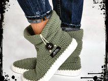 Ganchillo botas 65% cotton & 35% acril-UKI-BOHO