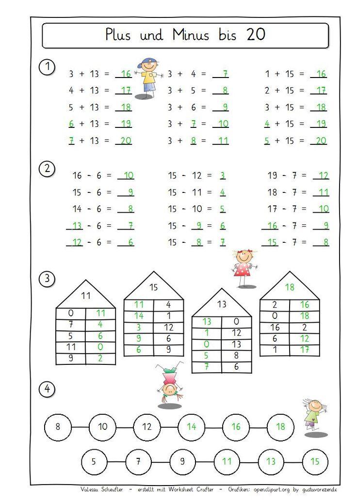 eulenpost plus und minus 20 mathematik mathe mathe
