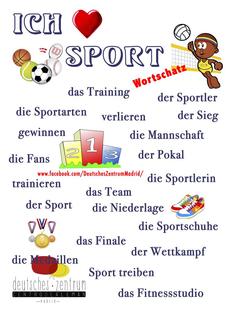 Sport Wortschatz Grammatik Alemán Vocabulario DAF German Deutsch