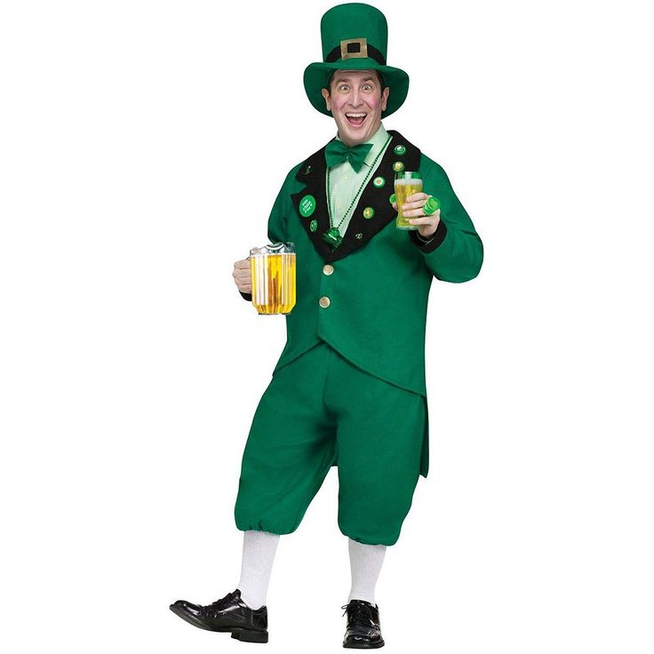 Leprechaun Costume - Adult, Men's, Green