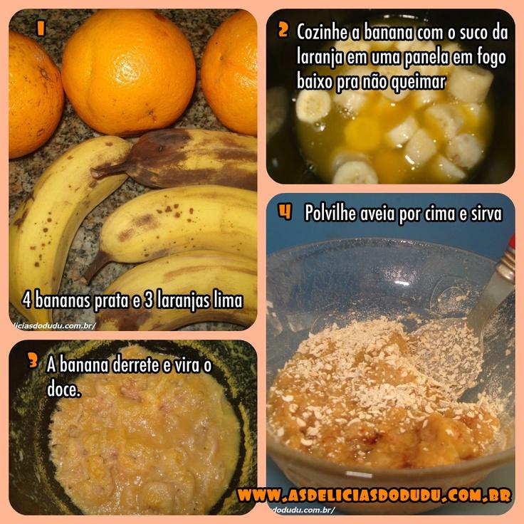 Doce de banana com laranja saudável...