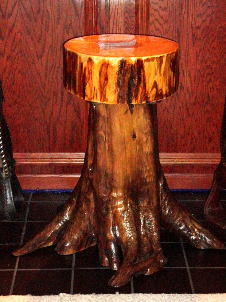 Rustic Cedar Stump Root Barstool By Outofthisword On Etsy