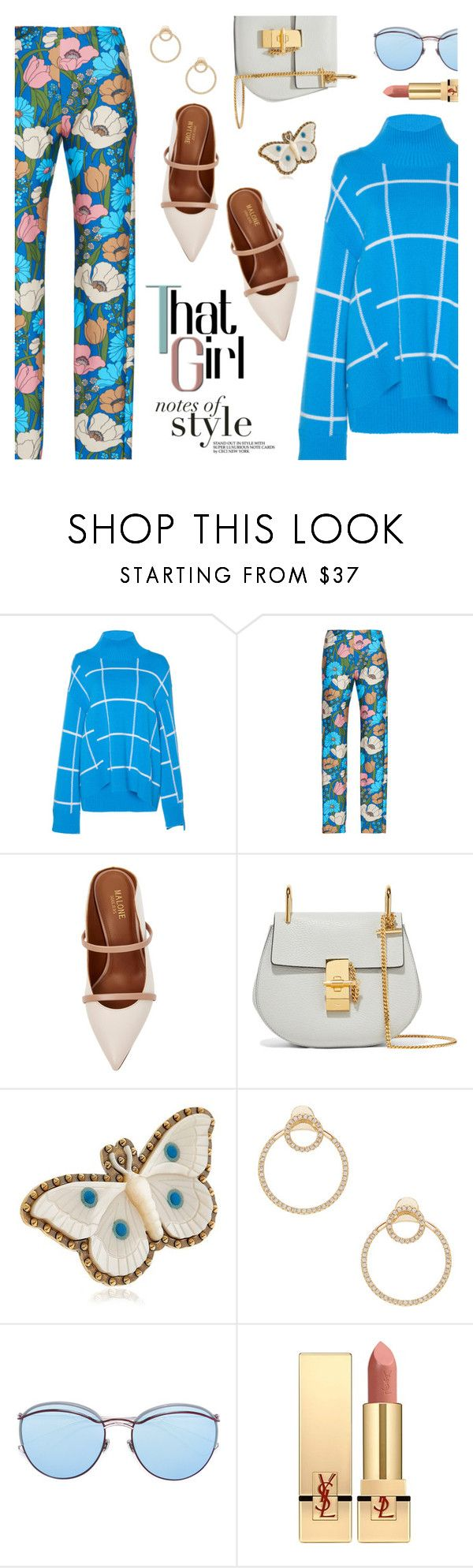 """""""Outfit of the Day"""" by dressedbyrose on Polyvore featuring Malone Souliers, Chloé, Gucci, Joolz by Martha Calvo, Christian Dior, Yves Saint Laurent, ootd and polyvoreeditorial"""