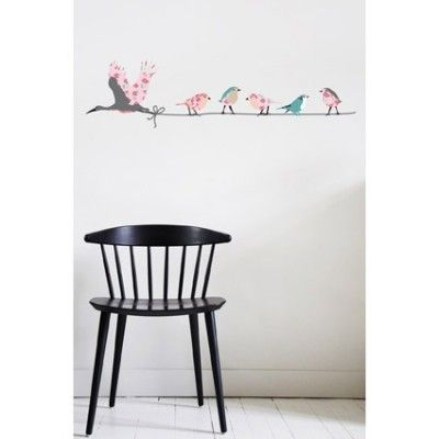 Sticker oiseaux Migration rose (130 x 35 cm)