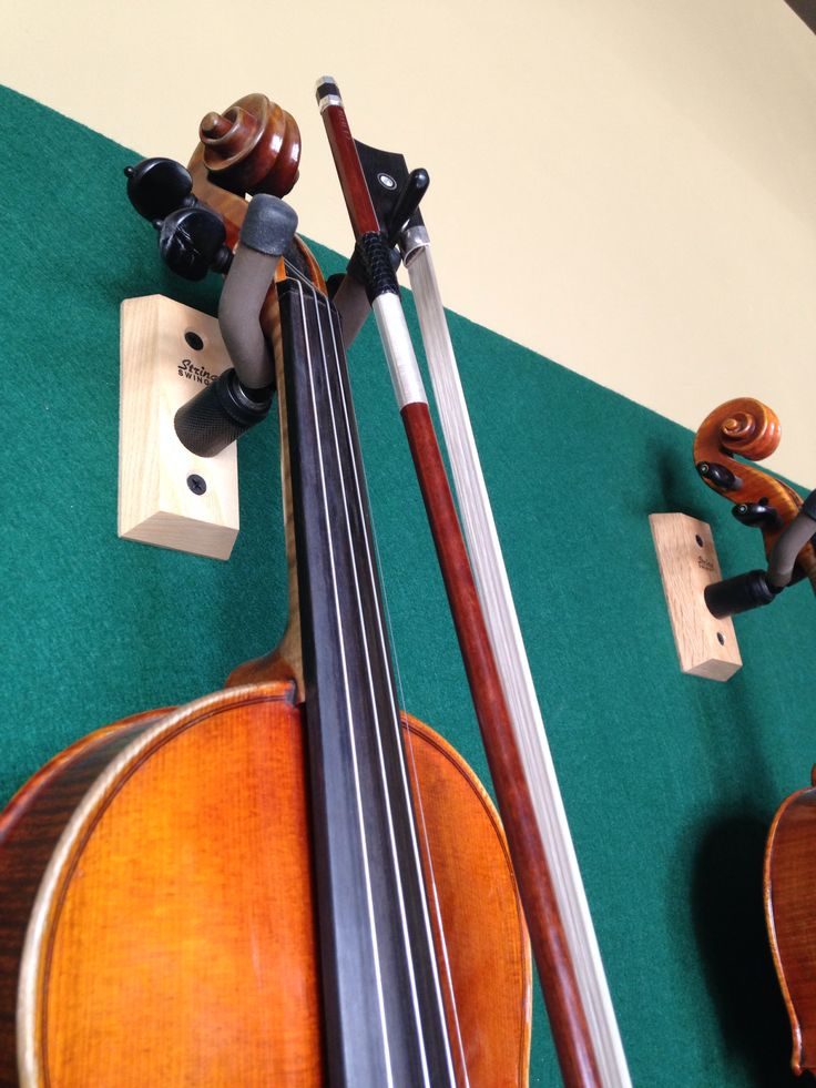 Violin Hanger With Peg For Bow Musical Instrument